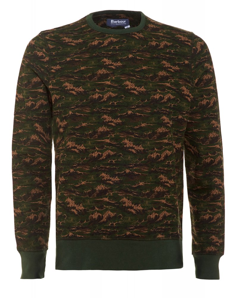27d421de37c9 Barbour X White Mountaineering Blenyama Olive Sweater