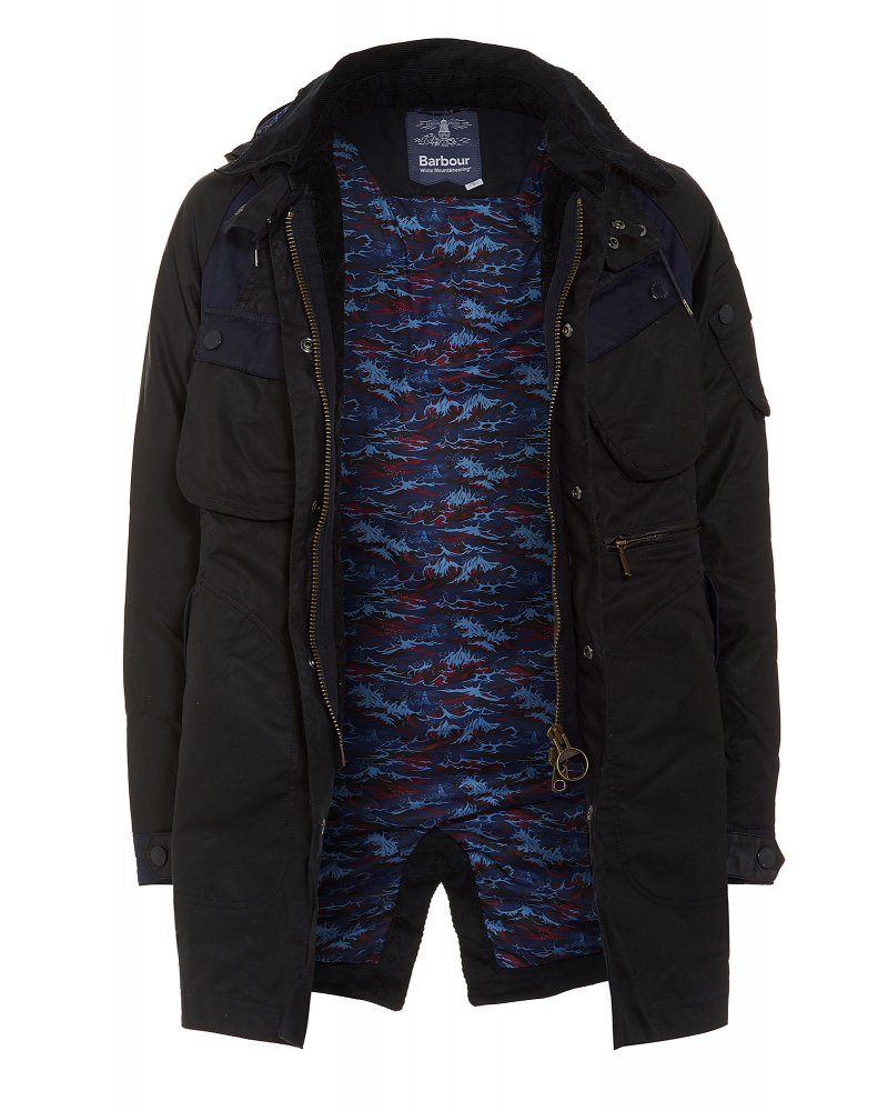 c25fd4a0c552 Barbour X White Mountaineering Navy Bleakazuma Wax Jacket