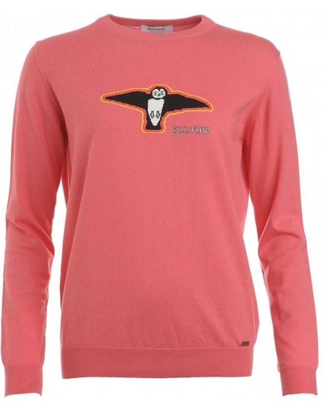 Barbour Bella Freud, Pink Puffin Kite Jumper