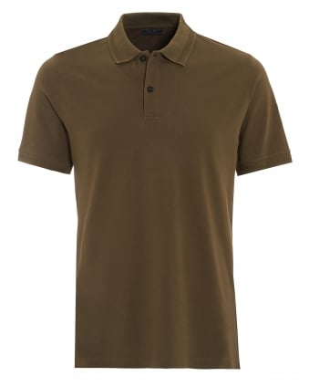 Mens Granard Polo, Regular Fit Olive Green Polo Shirt