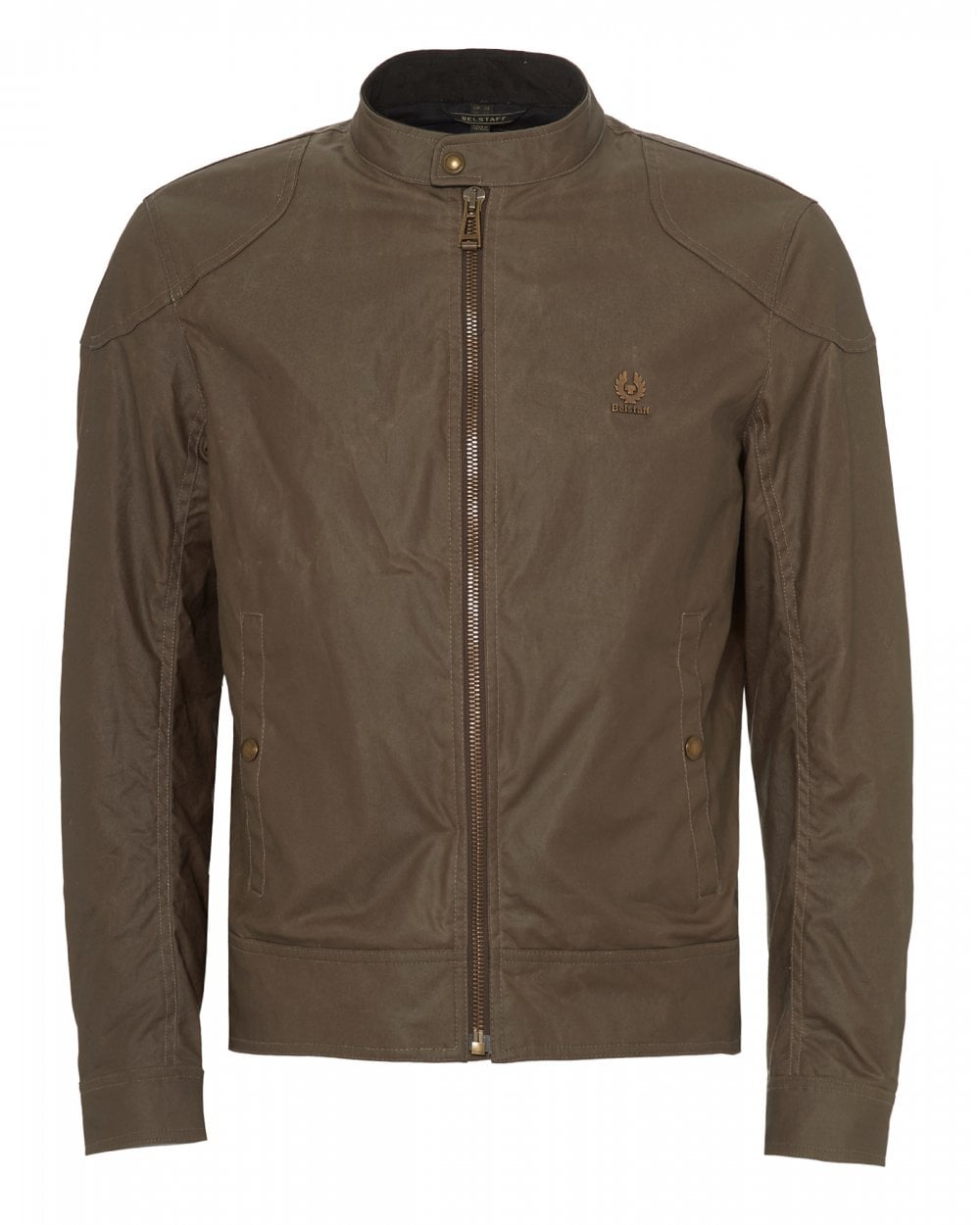 321099355a Belstaff Mens Kelland Waxed Cotton Bronze Oak Beige Jacket