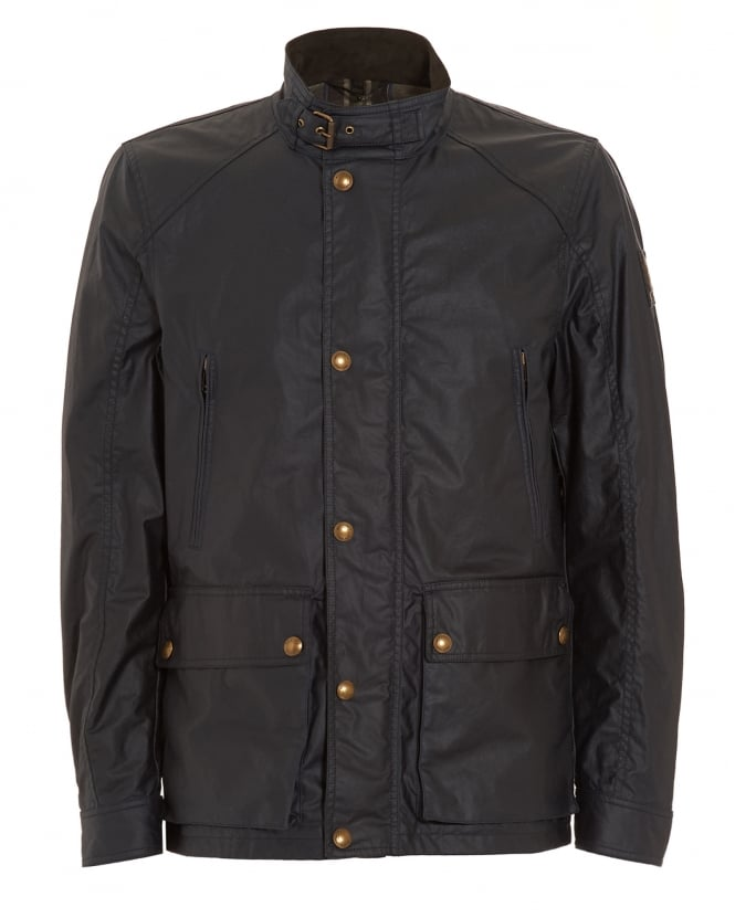 Belstaff Mens New Tourmaster Dark Navy Blue Jacket