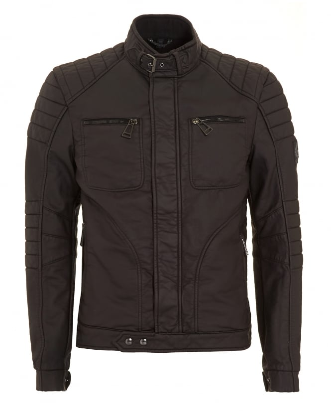 Belstaff Mens New Weybridge Rubberised Black Jacket