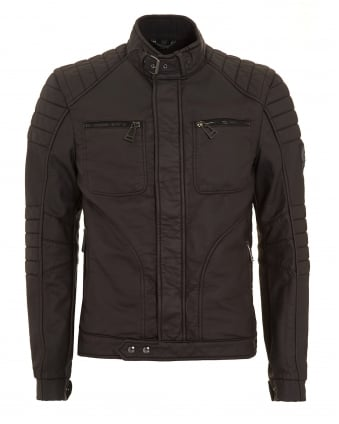 Mens New Weybridge Rubberised Black Jacket
