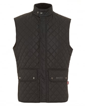 Mens Quilted Gilet Black Waistcoat