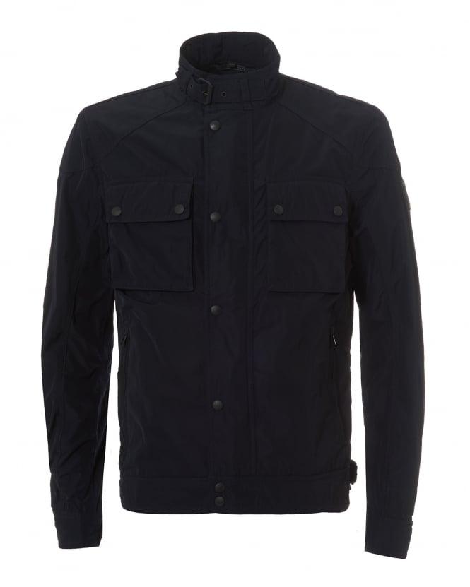 belstaff mens racemaster nylon jacket, dark ink biker jacket