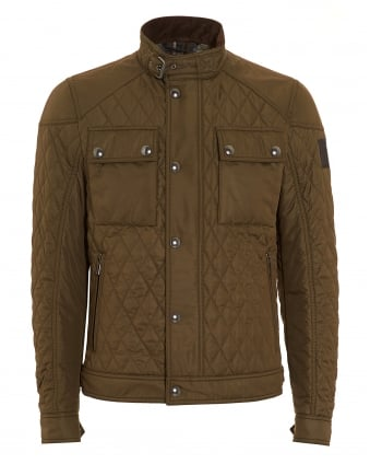 Mens RaceMaster Quilted Olive Jacket