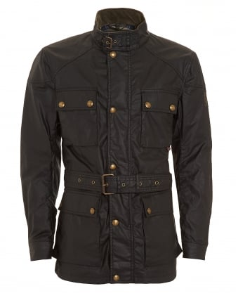 Mens Roadmaster Waxed Black Jacket