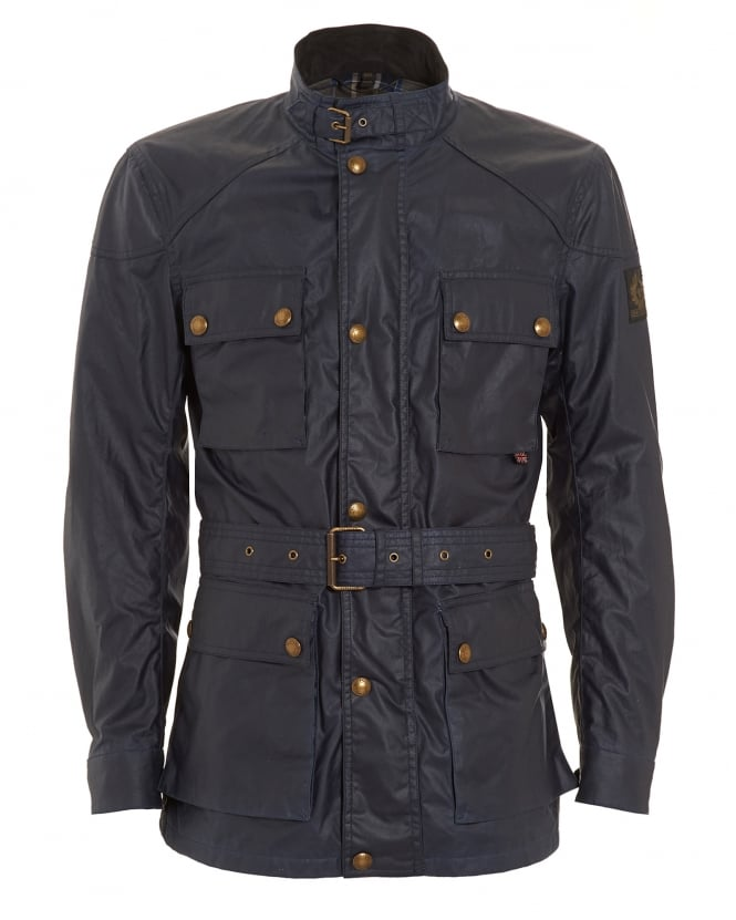 Belstaff Mens Roadmaster Waxed Dark Blue Jacket