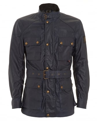 Mens Roadmaster Waxed Dark Blue Jacket