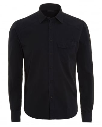 Mens Steadway Shirt, Regular Fit Navy Blue Shirt