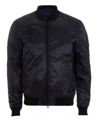 Mens Stonefield Jacket, Nylon Dark Ink Navy Bomber Jacket