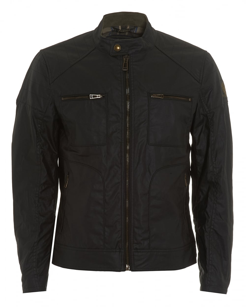 belstaff mens weybridge jacket black waxed jersey jacket. Black Bedroom Furniture Sets. Home Design Ideas