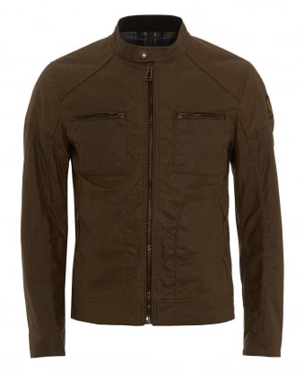 Mens Weybridge Jacket, Wax Cotton Windsor Moss Jacket