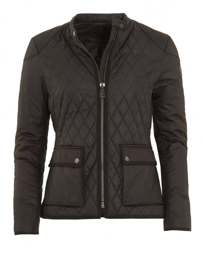 Belstaff Womens Randall Black Quilted Jacket