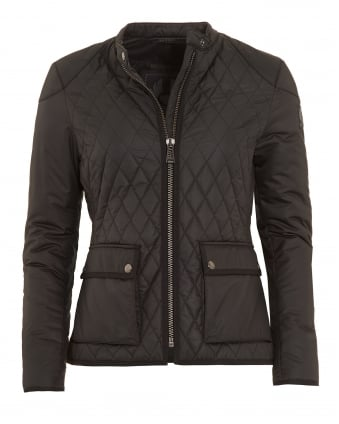 Womens Randall Black Quilted Jacket
