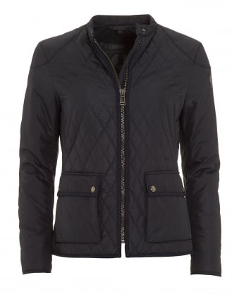 Womens Randall Navy Blue Quilted Jacket