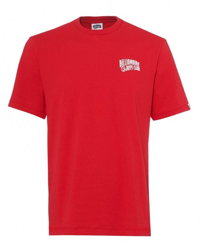 Billionaire Boys Club Mens Arch Logo T-Shirt, Basic Red Tee