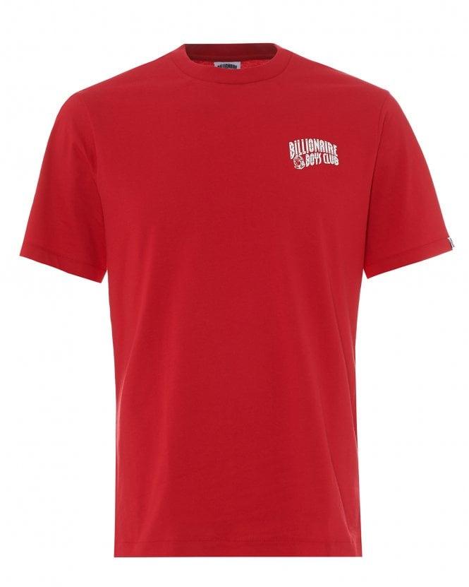 Billionaire Boys Club Mens Arch Logo T-Shirt, Red Regular Fit Tee
