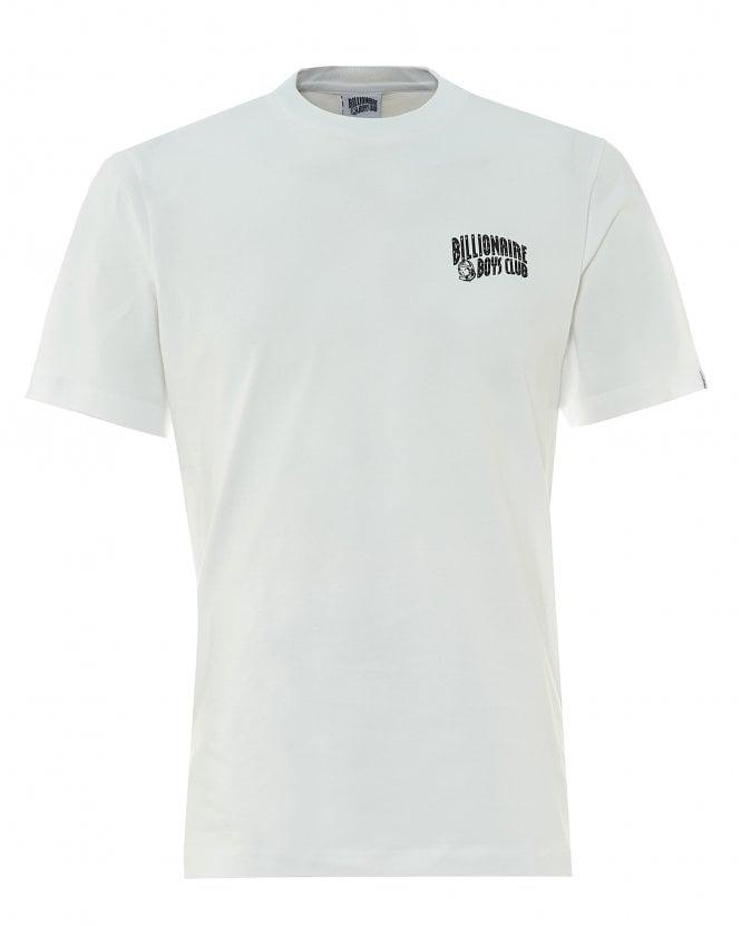 Billionaire Boys Club Mens Arch Logo T-Shirt, White Regular Fit Tee