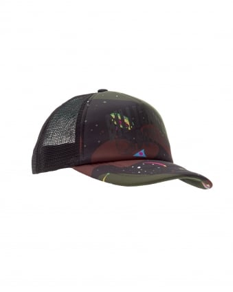 Mens Arch Trucker Cap, Space Camo Hat