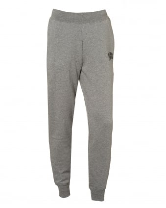 Mens Basic Trackpants, Cuffed Ankle Grey Sweatpants