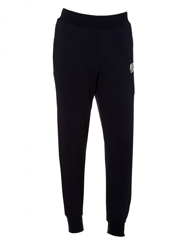 Billionaire Boys Club Mens Basic Trackpants, Cuffed Ankle Navy Blue Sweatpants