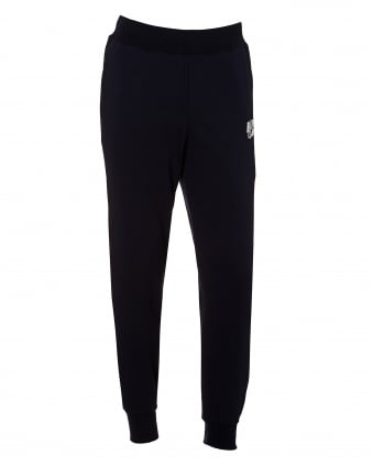 Mens Basic Trackpants, Cuffed Ankle Navy Blue Sweatpants