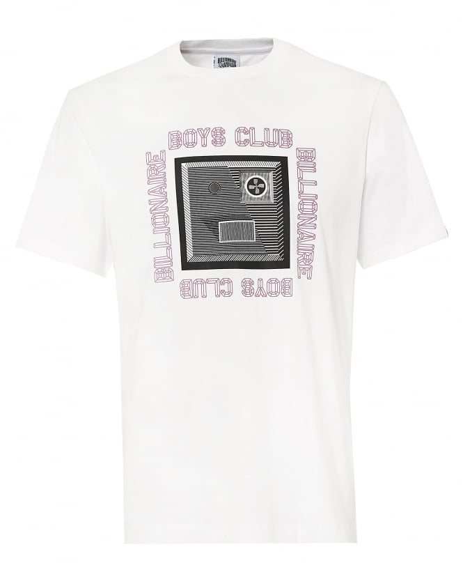 Billionaire Boys Club Mens CBD T-shirt, Raised Logo White Tee
