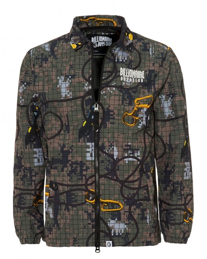 Billionaire Boys Club Mens Climbing Camo Print Zip Up Jacket