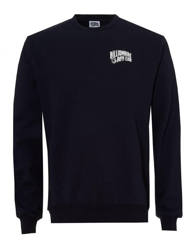 Billionaire Boys Club Mens Crew Neck Sweat, Basic Logo Navy Blue Sweatshirt