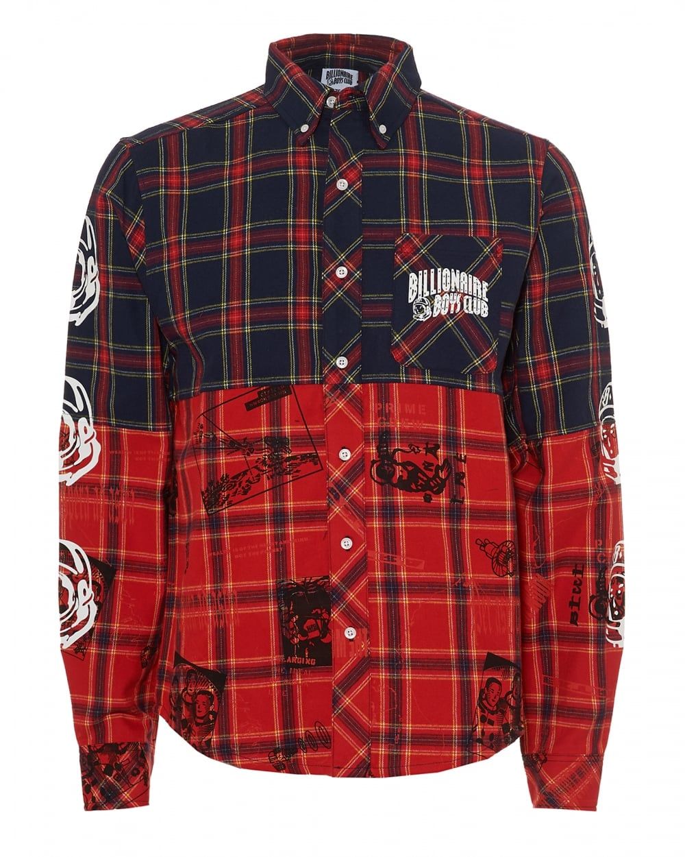 classic collared button front shirt - Blue Billionaire Boys Club Cheap Sale Fashionable To Buy Quality Free Shipping Low Price OaOkLuR