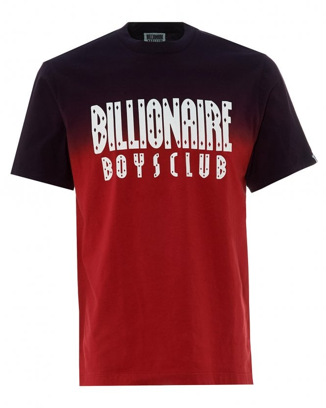 Billionaire Boys Club Mens Dip Dye T-Shirt, Red Tee