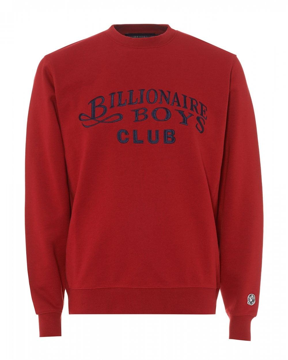 da0cb8566 Billionaire Boys Club Mens Embroidered Script Sweatshirt, Red Sweat