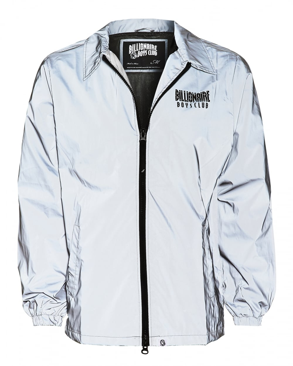 Billionaire Boys Club Mens Front And Back Logo Reflective Grey Jacket 25169ce52217