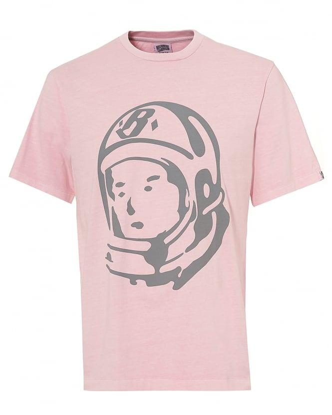 Billionaire Boys Club Mens Helmet T-shirt, Back Logo Overdyed Pink Tee