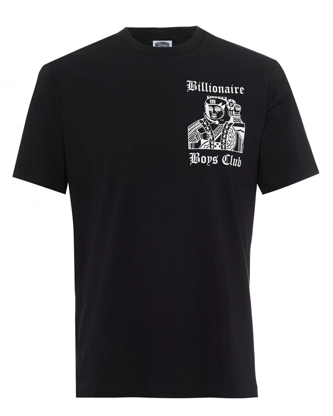Billionaire Boys Club Mens Higher Power Black T-Shirt, Playing Card Tee