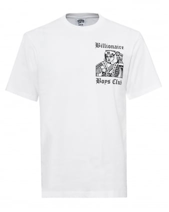 Mens Higher Power White T-Shirt, Playing Card Tee
