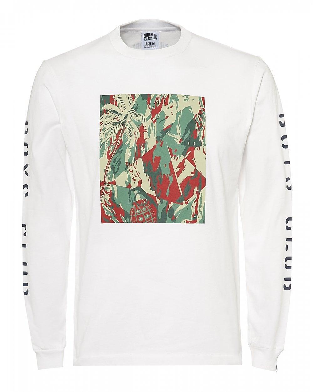 4d0f8386 Billionaire Boys Club Mens Lizard Camo Tile T-Shirt, Long Sleeve ...