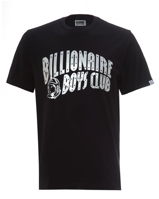 Billionaire Boys Club Mens Moon Landing 50th Anniversary T-Shirt, Black Logo Tee