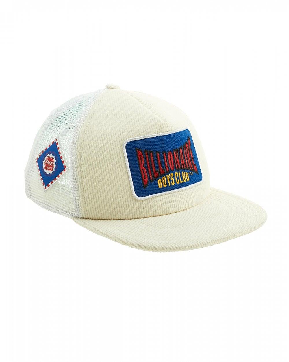 c0bf950f781 Billionaire Boys Club Mens Motor Patch White Trucker Cap