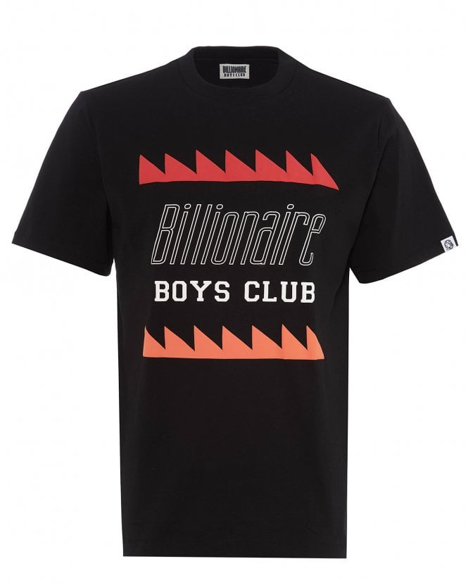 Billionaire Boys Club Mens Oscillating Logo T-Shirt, Black Print Tee