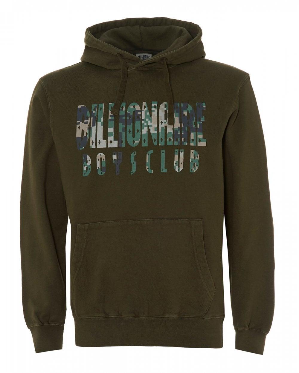 c400c3483 Billionaire Boys Club Mens Overdye Digi Camo Olive Green Hoodie