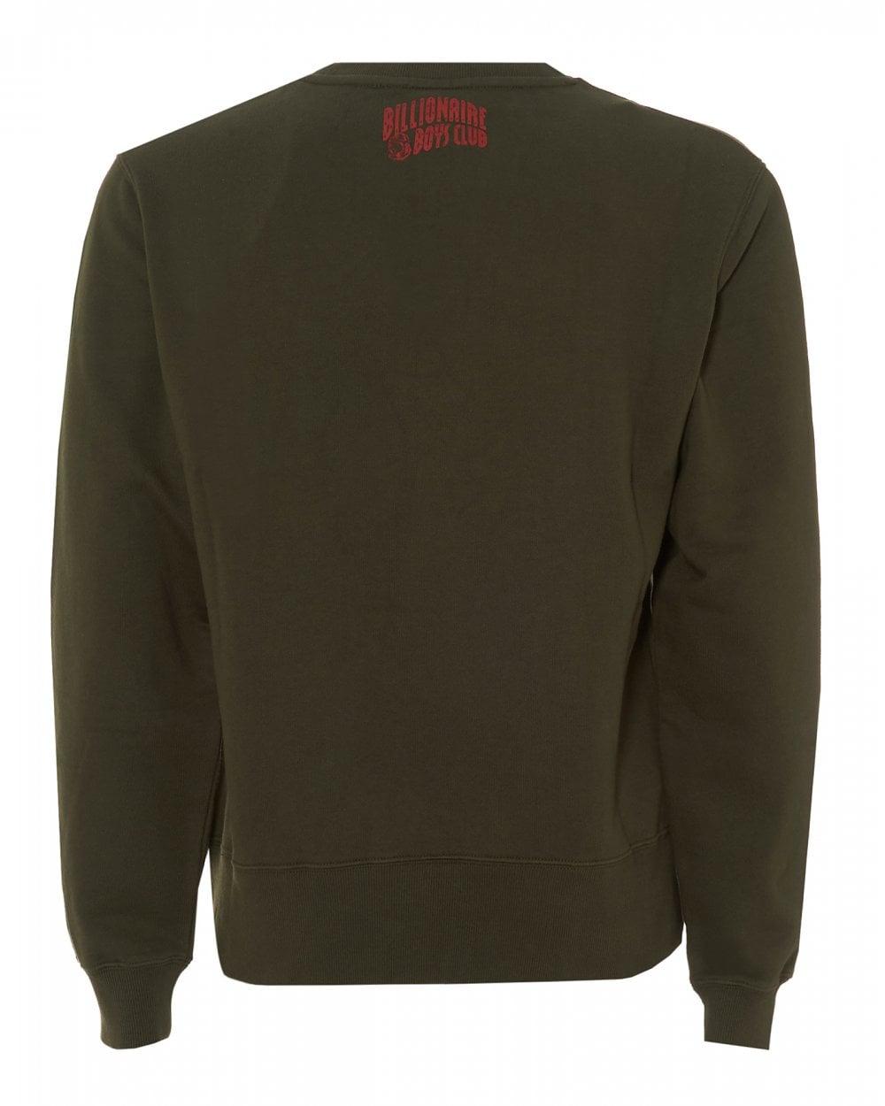 43a01acac Billionaire Boys Club Mens Pennant Applique Olive Green Sweatshirt