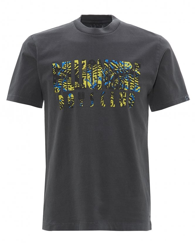 Billionaire Boys Club Mens Pigment Dyed Fish Camo T-Shirt, Black Tee