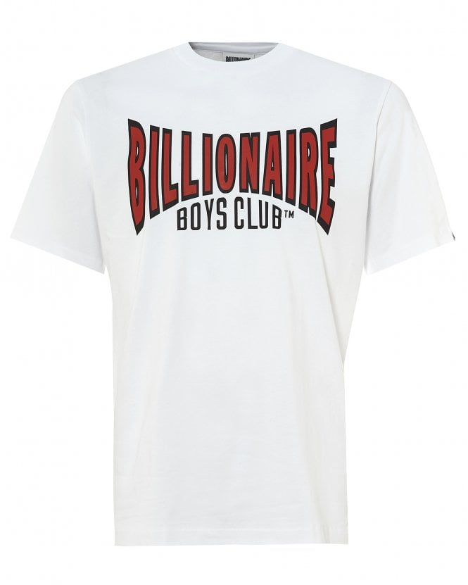 Billionaire Boys Club Mens Racing Logo T-Shirt, White Tee