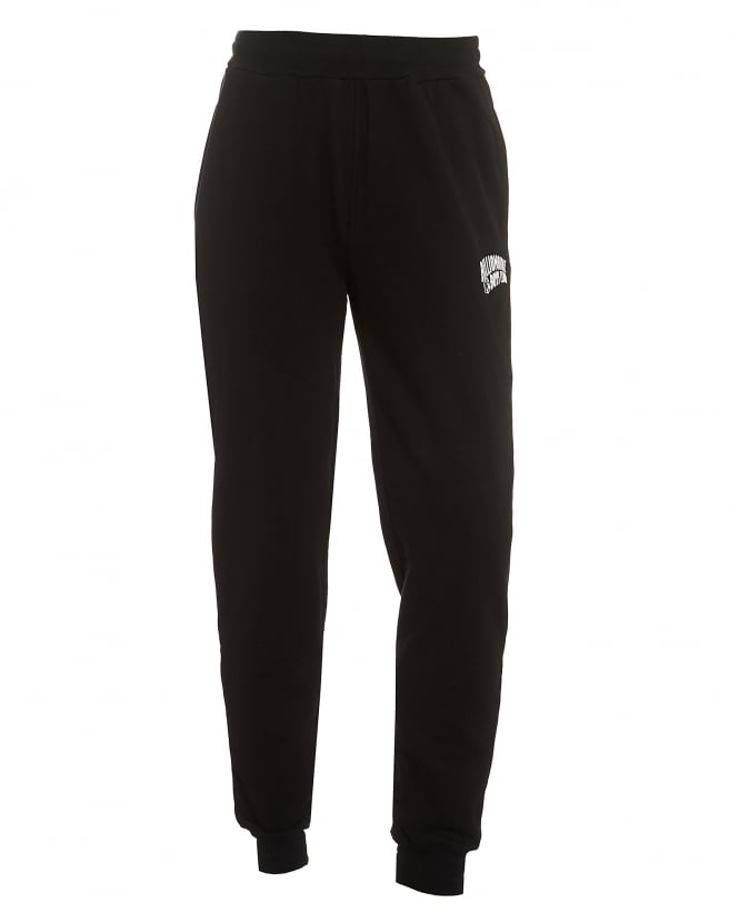 Billionaire Boys Club Mens Small Arch Logo Trackpants, Cuffed Black Sweatpants