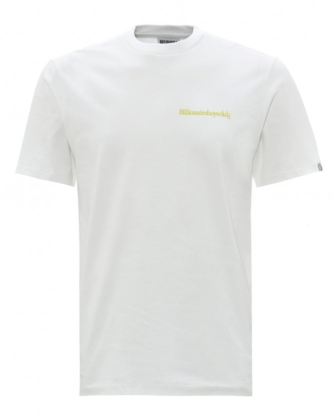 Billionaire Boys Club Mens Small Logo T-Shirt, White Tee