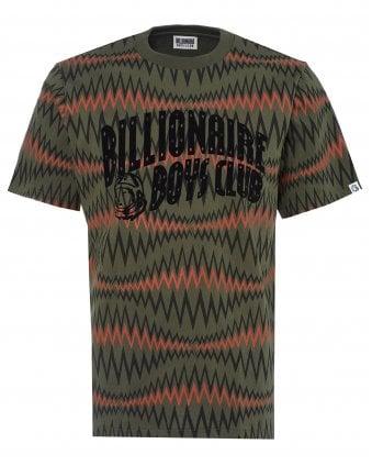 a6223c8fc Mens Sound Wave T-Shirt, Olive Green Tee SALE · Billionaire Boys Club ...
