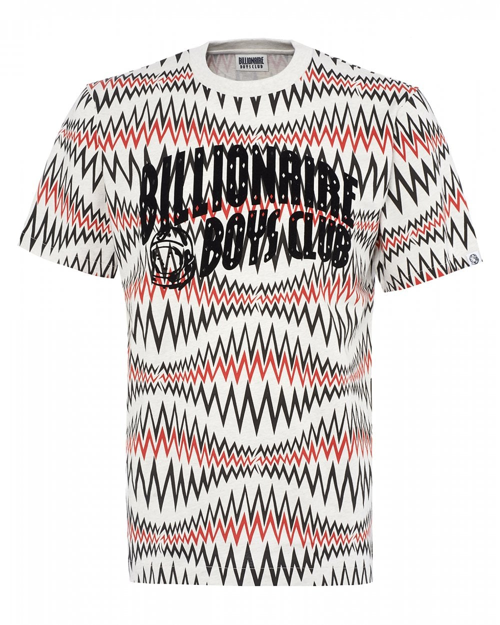 d237ec8a Billionaire Boys Club Mens Sound Wave T-Shirt, White Marl Tee